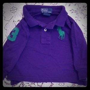 Polo vintage classic long sleeve collared tee